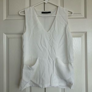 Zara blouse top with pockets